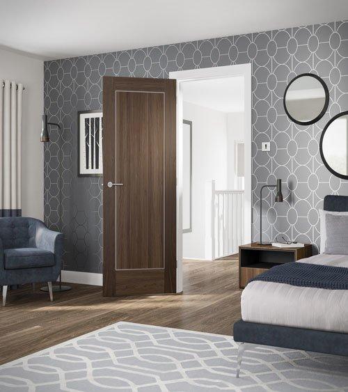 VARESE Walnut Panelled Internal Door