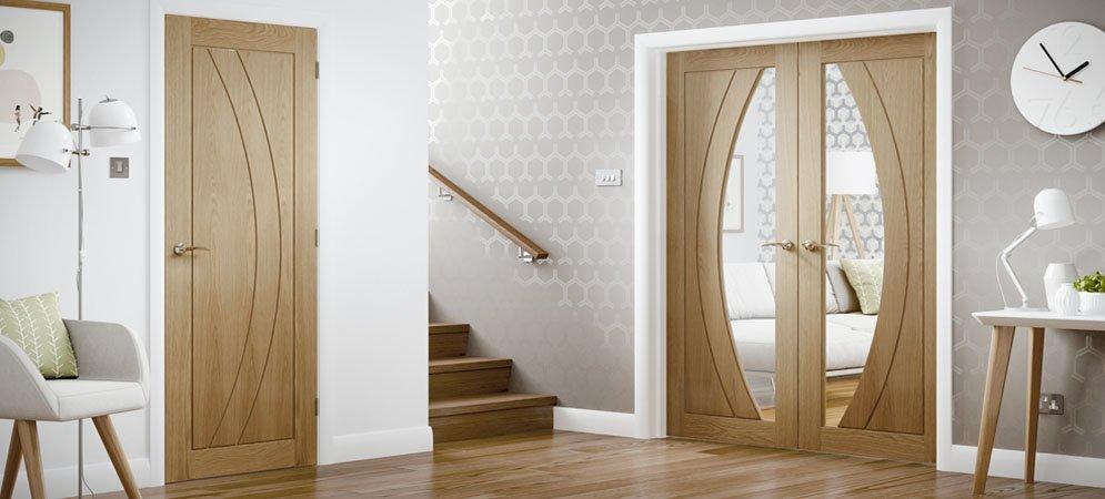 Internal Oak SALERNO Rebated Door Pair
